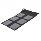 Portable Outdoor 18W Solar Powered Laptops Charger w/ Voltage Controller + Adapters - Black