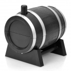 Wine Cask Shape Automatic Plastic Toothpick Holder - Black