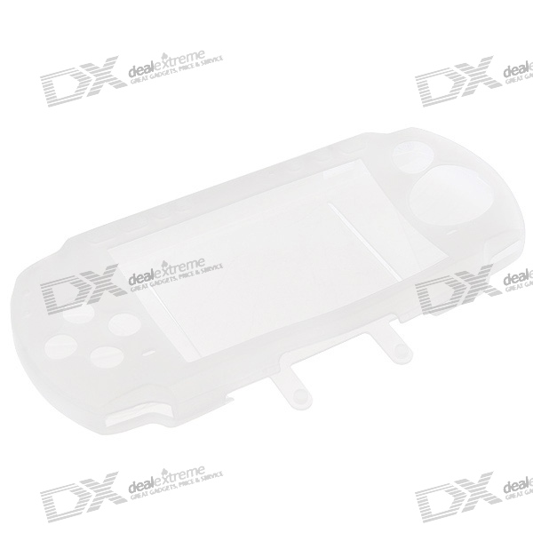 Silicone Protective Case for PSP 3000/2000 (White) protective silicone case for nds lite translucent white