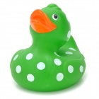 Polka Dot Pattern Funny Floating Duck Bath Toy for Kids - Green + White