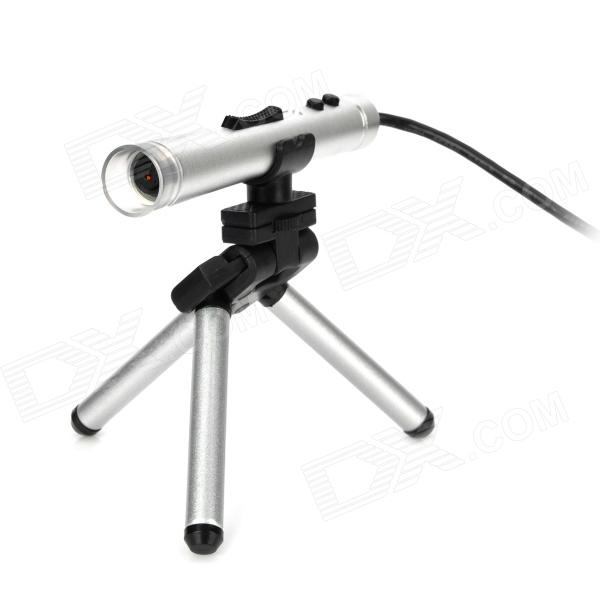 Supereyes B010 Pen Style USB 2.0 1.3MP~5.0MP 400X Digital Microscope / Endoscope w/ 8-LED - Silver