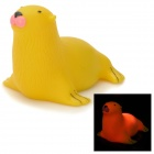 Funny Floating Sea Lion Bath Toy w/ 7-Color Light for Kids - Yellow (2 x LR626)