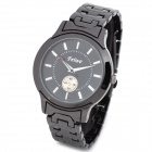 FWIWO 8029G Man's Stainless Steel Quartz Analog Waterproof Wrist Watch - Black (1 x 377)