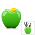 DELI 9139 Creative Apple Shape Plastic Pen Holder - Green