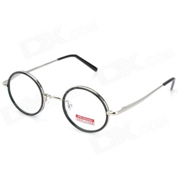 Old Man 100 618 Retro 350 Degrees Resin Lens Zinc Alloy Frame Reading Glasses - Silver old man 100 619 retro 250 degrees resin lens pc frame reading glasses black