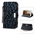 KALAIDENG Leopard Style Protective PU Leather Case Stand w/ Strap for Samsung Galaxy Note 2 N7100