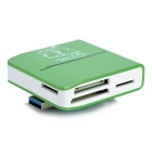 G-C3329 USB 3.0 TF / SD / SDHC / Mini SD / MMC / RS-MMC / MS / MS Duo Card Reader - Green + White
