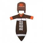Doomagic Cute Rugby Football Shaped Cotton Soft Sleeping Bag w/ Hat for Baby - Brown