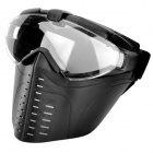 Tanluren SW2013 Protective Anti-Fog Face Shield Mask w/ Turbifan for Outdoor War Game - Army Green