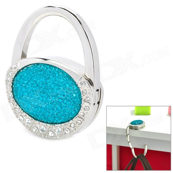 JinSiDun GL5117 Shining Handbag Style Bag Hanger Holder Hook - Blue + Silver