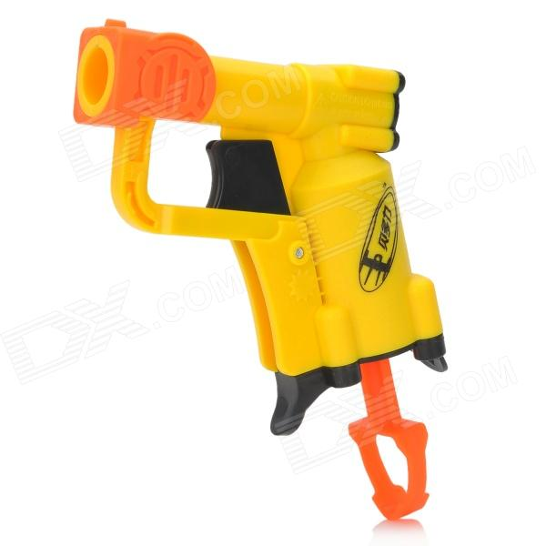 Manual Launch Outdoor Indoor Sponge Ball Gun Toy for Kids - Yellow + Orange + Black