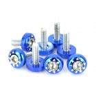 Aluminum Alloy DIY 6mm Cool Motorcycle Mounting Screws - Blue + Silver (8 PCS)