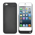 E-035 Rechargeable 2000mAh External Battery Pack Back Case for iPhone 5 - Black