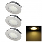 1.5W 3500K 120lm 27-LED Warm Light Lamps - Silver (3 PCS)