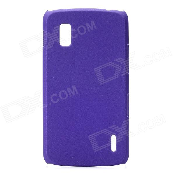 Protective Baking Finish Plastic Case for LG E960 Nexus 4 - Purple s pattern protective plastic case for lg nexus 5 e980 translucent grey