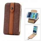 Protective 360 Degree Rotation PC + PU Leather Holder Case w/ Card Slots for Samsung Galaxy S3 i9300