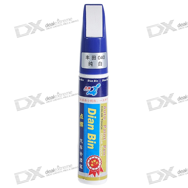Toyota #040 White Auto Body Paint Scratch Repair Pen (12ml)