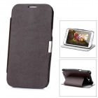 Protective PU Leather + PC Flip-Open Case for Samsung Galaxy Note II / N7100 - Brown