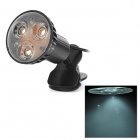Stylish USB Power 1W 3-LED White Light Flexible Neck Swivel Reading Lamp w/ Clip - Black