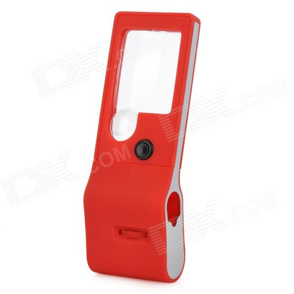 515X Handheld 55X Microscope 3X / 10X Magnifier w/ UV Lamp / 5-LED White Lights - Red + Blue