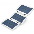 YSL-38 Foldable 3.7V 6000mAh Solar Powered Quick Charger w/ Adapters - White
