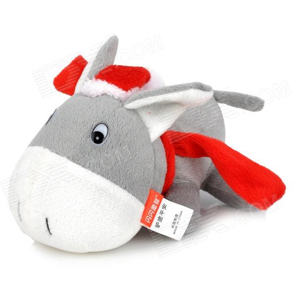 SY017 Cute Auto Car Room Bamboo Charcoal Donkey Toy Odor Absorber - Grey + Red + White