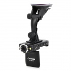 "2.0"" TFT LCD 5.0MP Wide Angle Car DVR Camcorder w/ TF / Night Vision - Black"