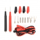 Universal Testing Accessories for Instrument and Multimeter - Black + Red