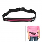 Outdoor Sports Running Cycling Mini Zipper Belt Bag - Black + Dark Violet