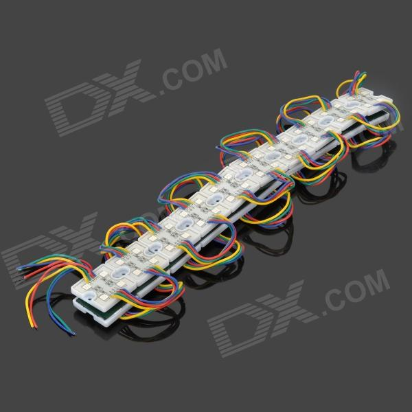 0.96W 30lm 4 x 20-SMD 5050 LED RGB Light Sign / Decoration Module - White (DC 12V)