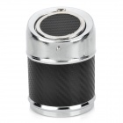 HQS-Y24128 Auto Open Stainless Steel Garbage Can Style Ashtray for Car - Black + Silver