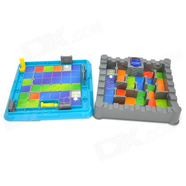 Xiaoguaidan 0508 Plastic Castle Adventure Educational Maze Toy  - Grey + Yellow + Red + Blue