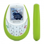 "QshinTo Q100 GSM Kid's Phone w/ 1.44"" Capacitive Screen, Quad-Band, Low Radiation and GPS - Green"