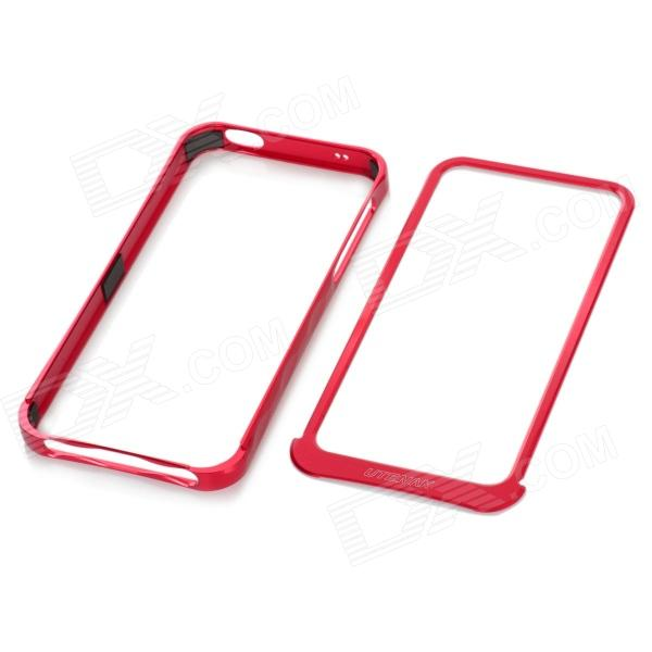 Protective Aluminum Alloy Bumper Frame Case for Iphone 5 - Red