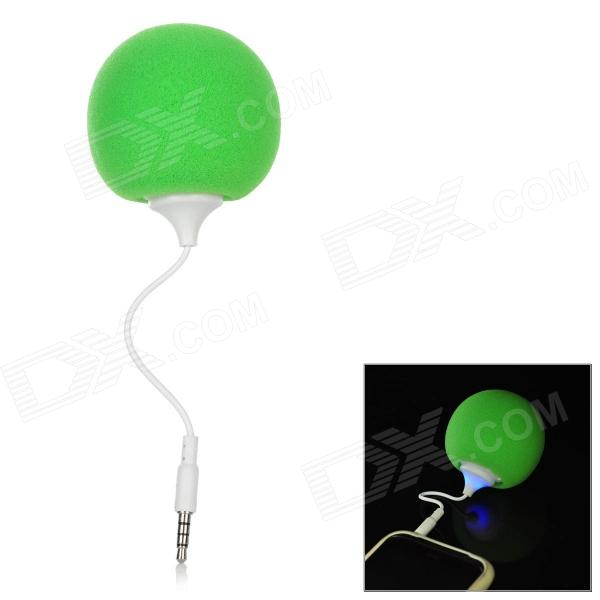 Ball Style Mini Speaker for iPhone / HTC / Samsung - Green