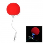 Cute Mini Balloon Style USB Rechargeable Speaker w/ 3.5mm Audio Plug for Apple + Samsung + HTC - Red