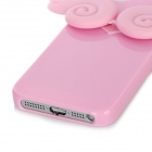 Luminescent 3D Angel Wings Design Protective TPU Back Cover Case for Iphone 5 - Pink