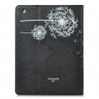 Dandelion Pattern Protective PU Leather Case for iPad 2 / The New iPad - Black