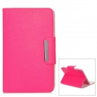 Protective PU + PC Case for Ipad MINI w/ Magnetic Closure - Rose Red + White