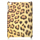 Leopard Pattern Protective Translucent PC Back Case for Ipad MINI - Yellow + Dark Brown