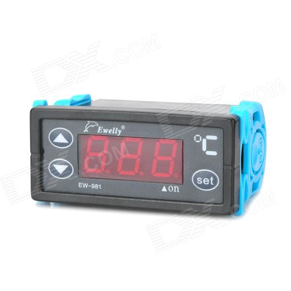 20619 1.7 LED Digital Temperature Controller w/ Waterproof Switch - Black boiler thermostat regulator circulating temperature controller switch adjustable temperature controller 220v