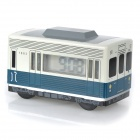 Retro LED Display Bus Style Auto-turning Alarm Clock - Blue (1 x AAA)