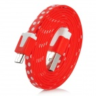 Polka Dot Style Micro USB Male to USB Male Data &amp; Charging Cable for Samsung N7100 - Purple (100cm)
