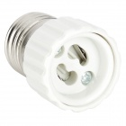 E27 Male to GU10 Female Light Lamp Bulb Adapters Converters - White + Silver (5 PCS)