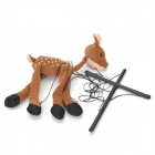 Plush Deer Puppet Doll - Stone Yellow + Black
