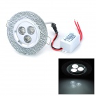 INHIDA 3W 255lm 3-LED White Light Crystal Ceiling Lamp (86~265V)