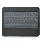 Wireless Bluetooth V3.0 66-Key Touch Keyboard w/ Leather Cover for Ipad / Ipad 2 + More - Black