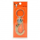 Fashion Zinc Alloy Keychain w/ Compass - Bronze