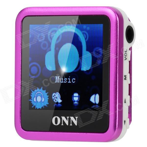 ONN Q6 1.5'' Screen MP3 Player w/ Clip / FM - Deep Pink (4GB) onn q6 mini 1 5 screen mp3 player w fm clip silver 4gb