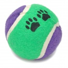 Cotton Fiber Pet Dog&#039;s Environmental Bite Resistant Tennis Ball Toy - Purple + Green